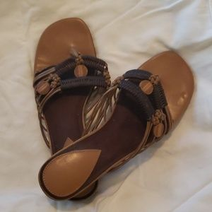 Woven brown sandals